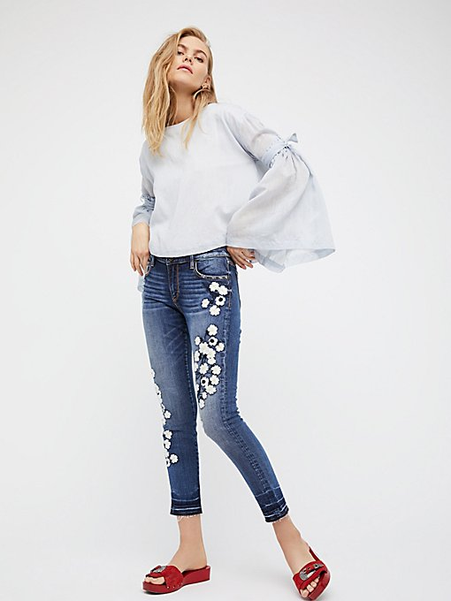 Product Image: Marilyn Embroidered Skinny Jeans