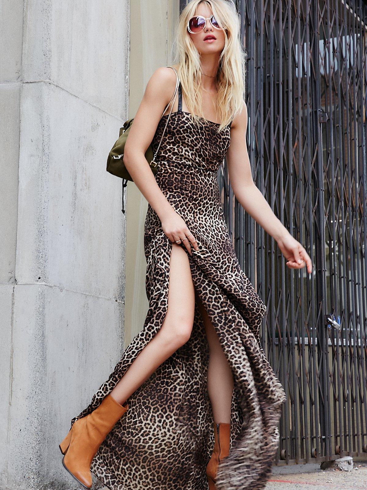 Rococo豹纹及踝连衣裙