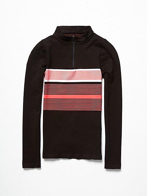 Product Image: 条纹拉链层搭上衣