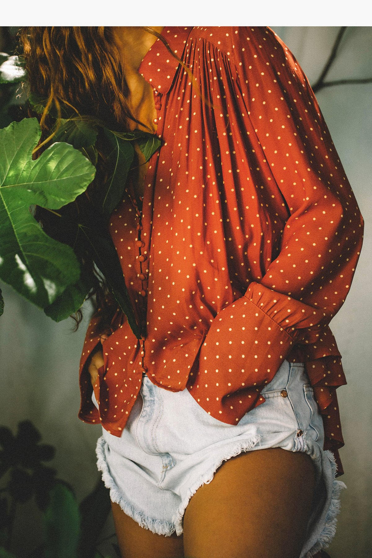 New World Dotted Blouse