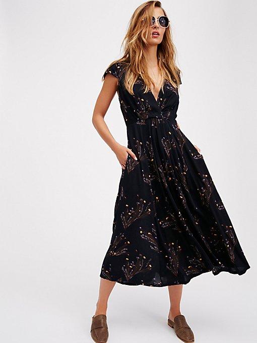 Product Image: Printed Retro Midi Dress