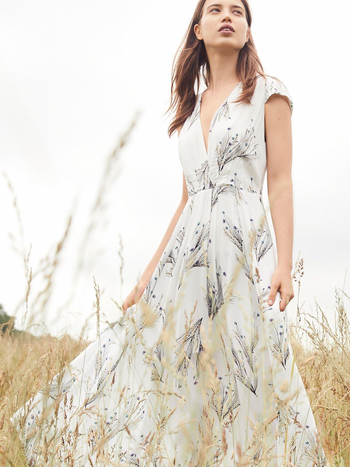 Printed Retro Midi Dress