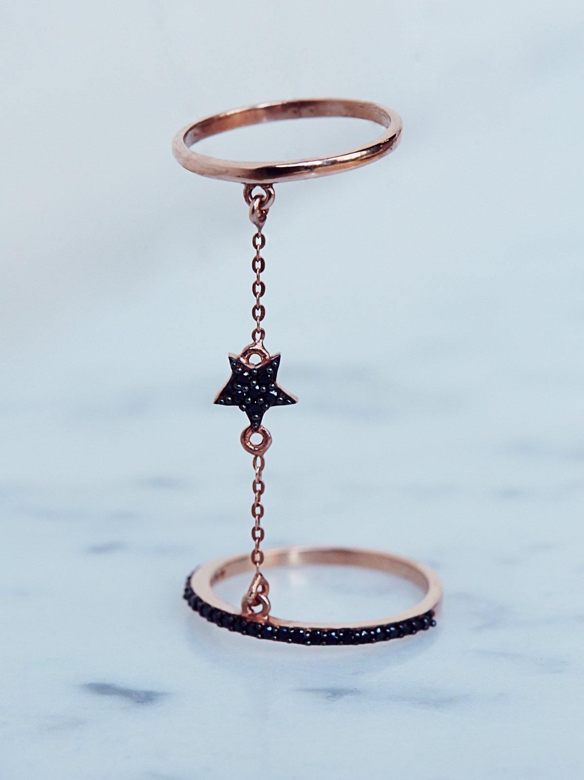 星形双环戒指