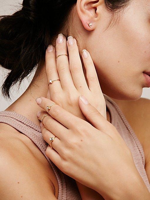 Product Image: Teeny Tiny Iridescent Ring Set