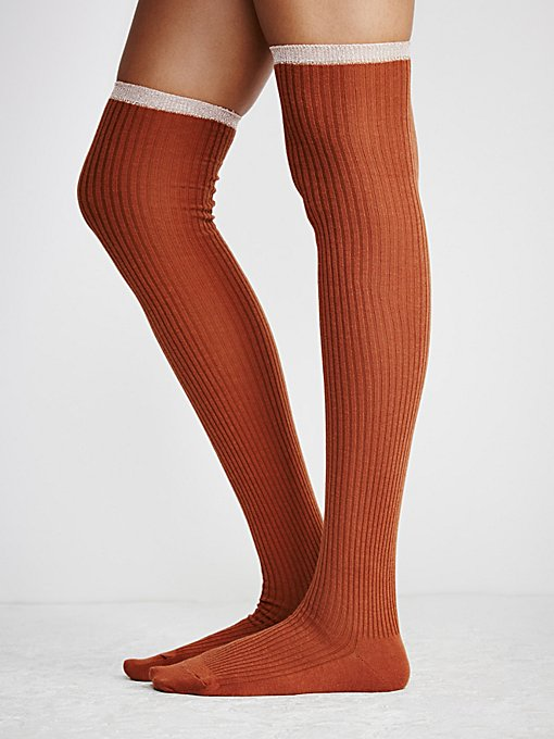 Product Image: Sable Lurex Over The Knee Sock