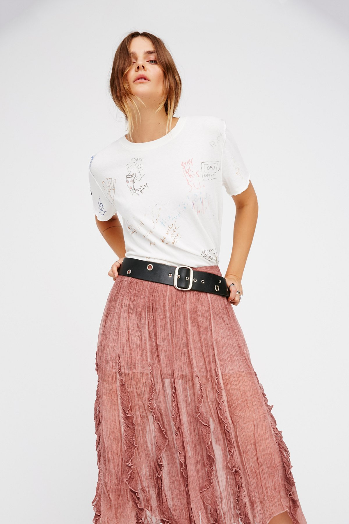 Follow Me Ruffle Skirt