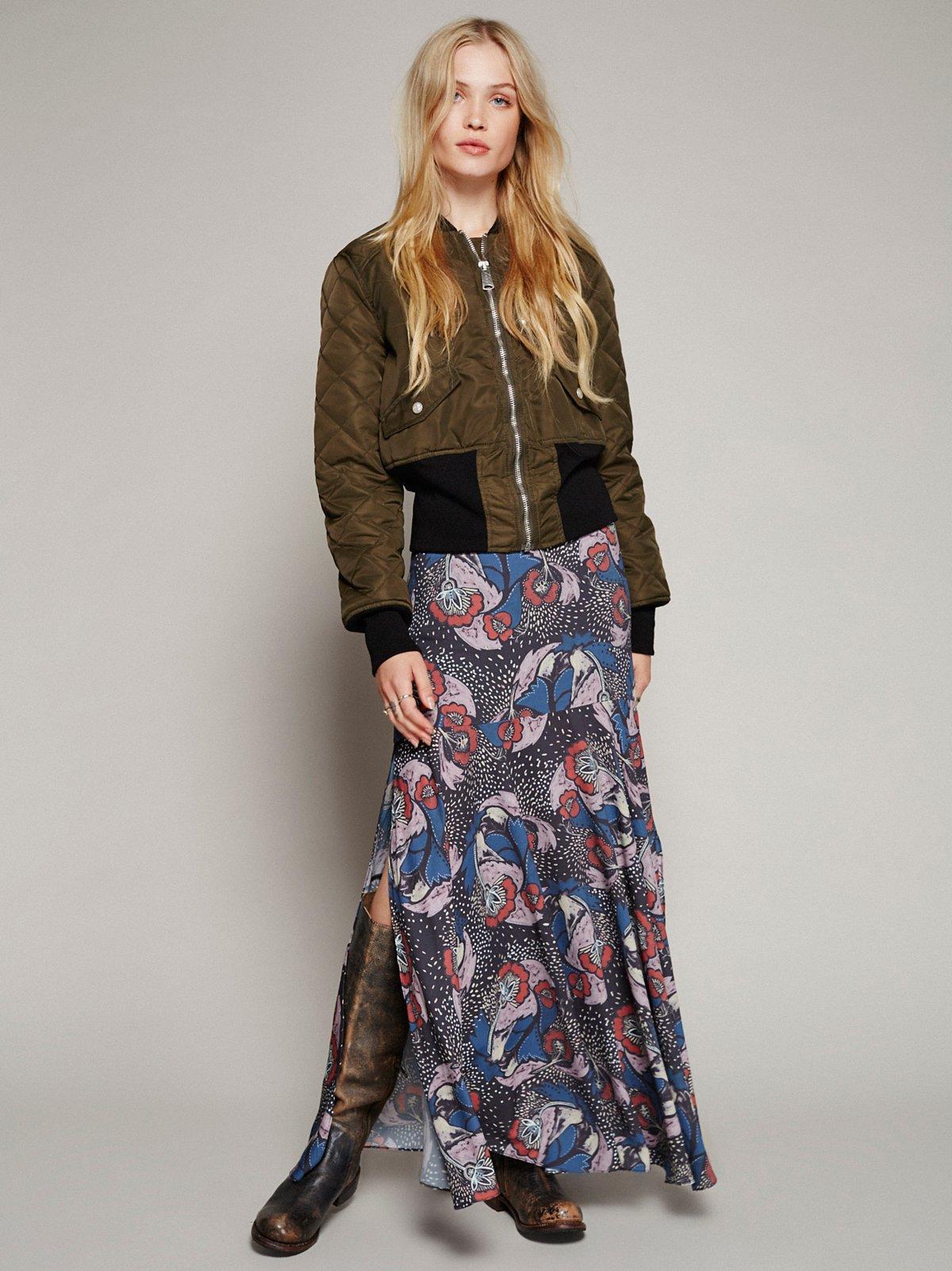 Pebble Crepe Maxi Skirt