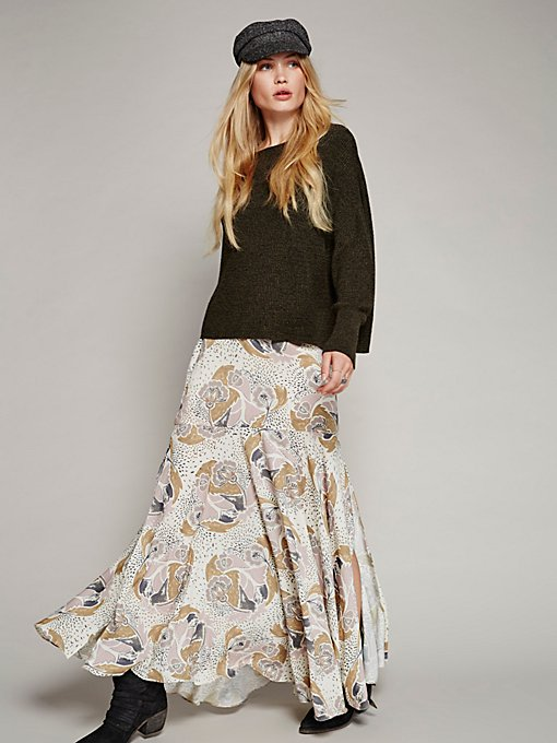 Product Image: Pebble Crepe Maxi Skirt