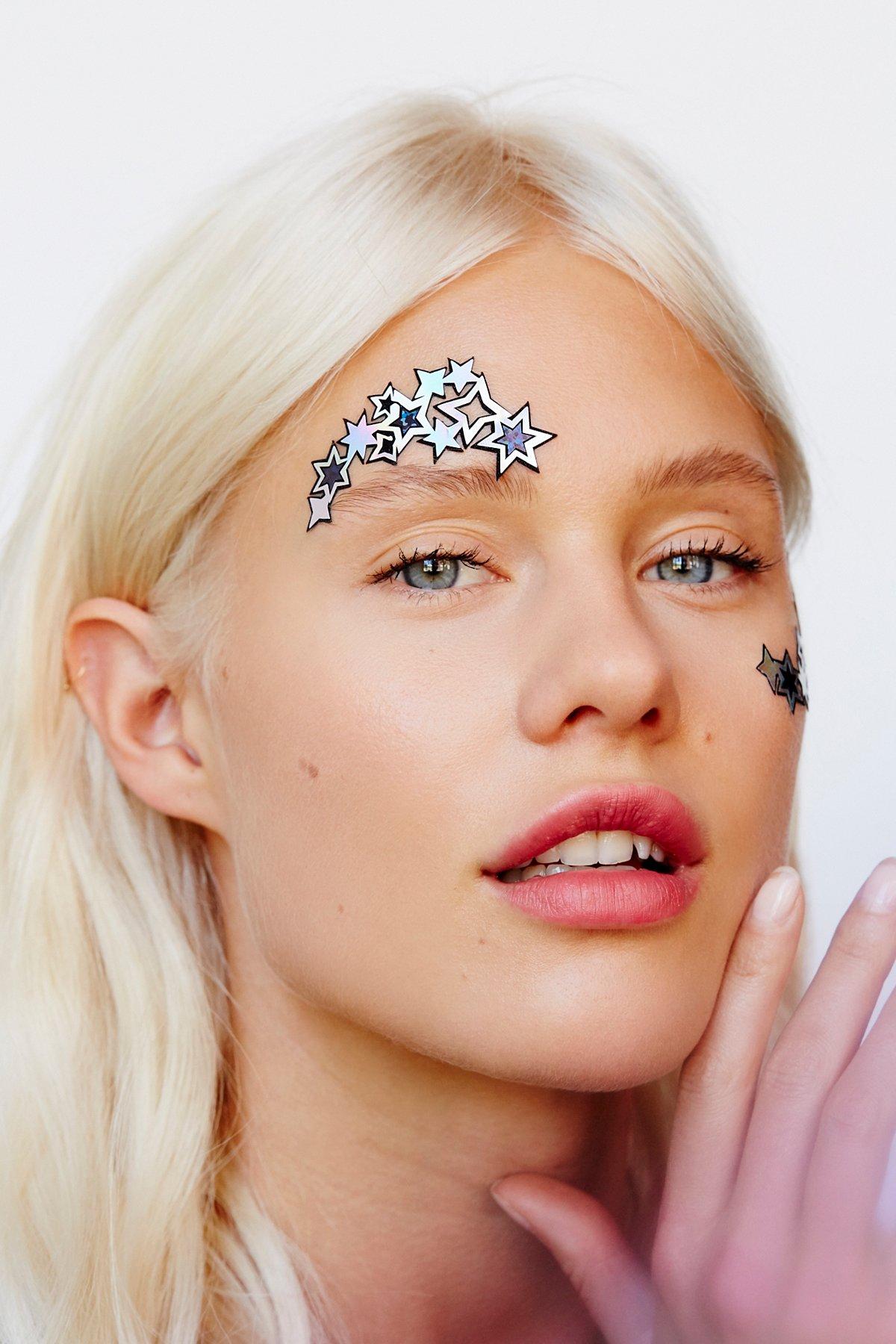 Face Lace Eye Stick On Set
