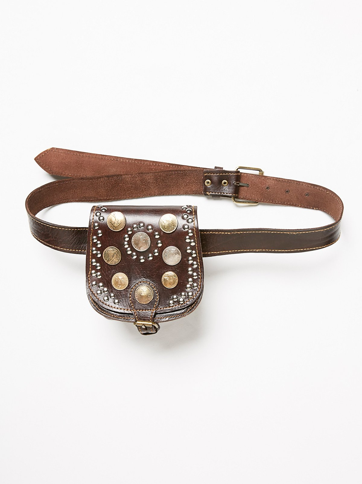 Vintage Coin Pocket Belt