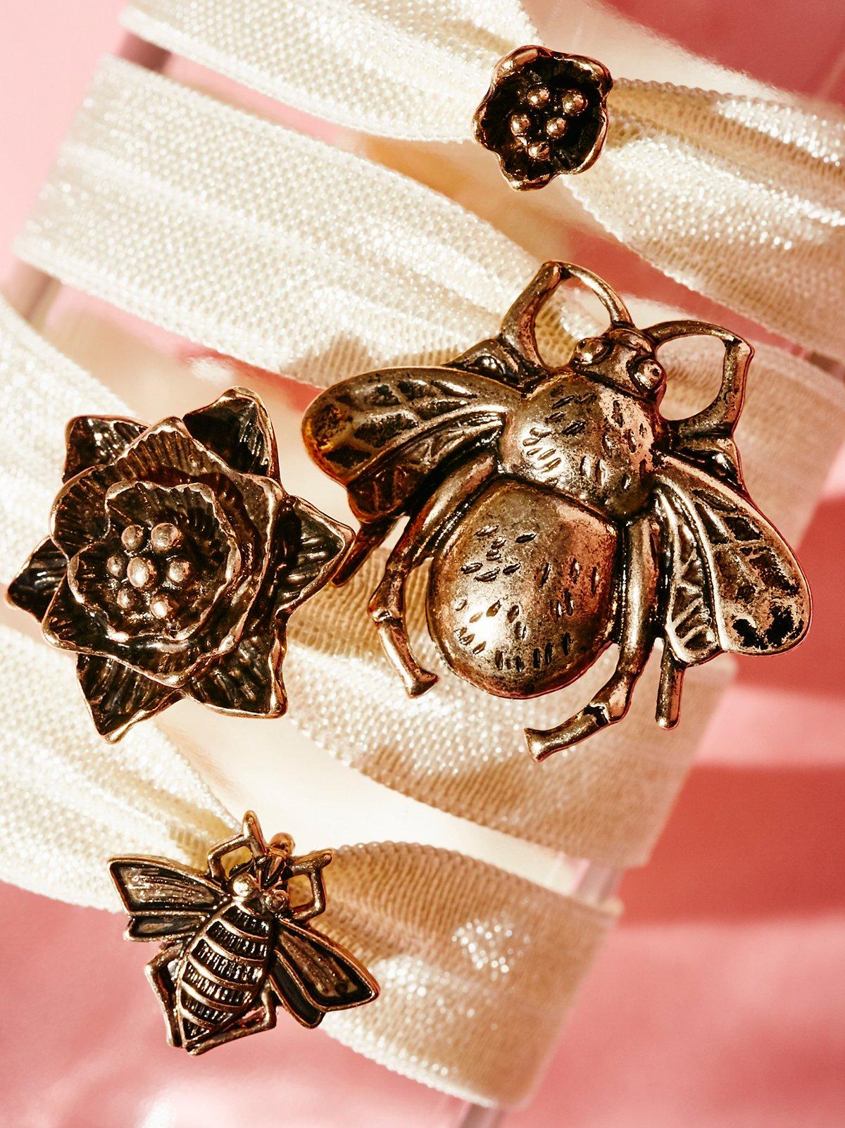 金属蔷薇花蕾装饰头绳