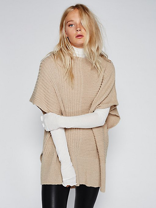 Product Image: Camden Mix Ribbed Poncho