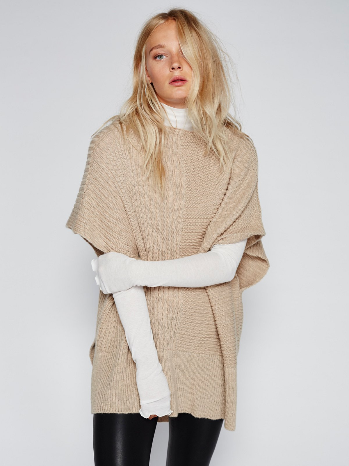Camden Mix Ribbed Poncho