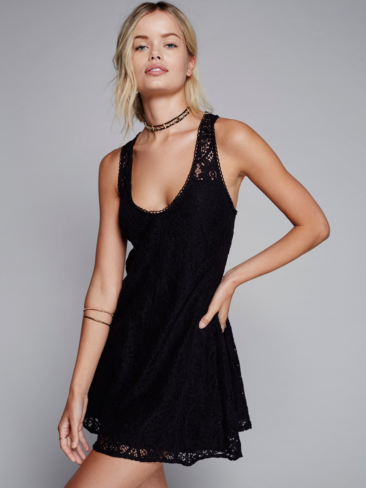 Voop Lace Mini Dress