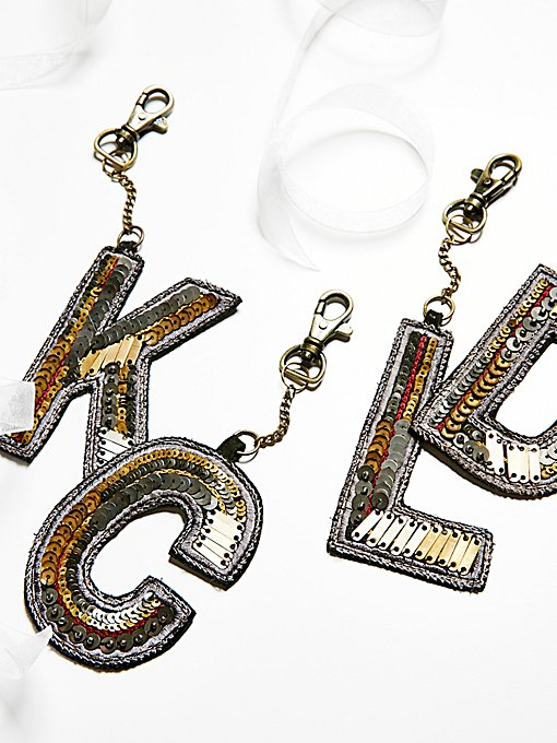 Product Image: Sequin Letter Bag Charm