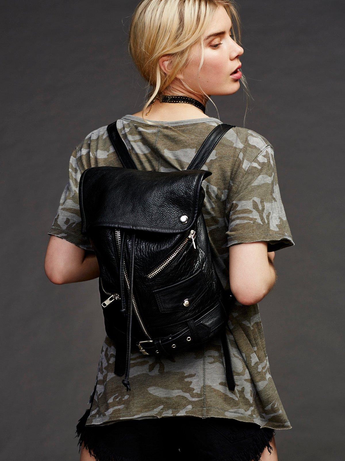 Edie皮革双肩背包