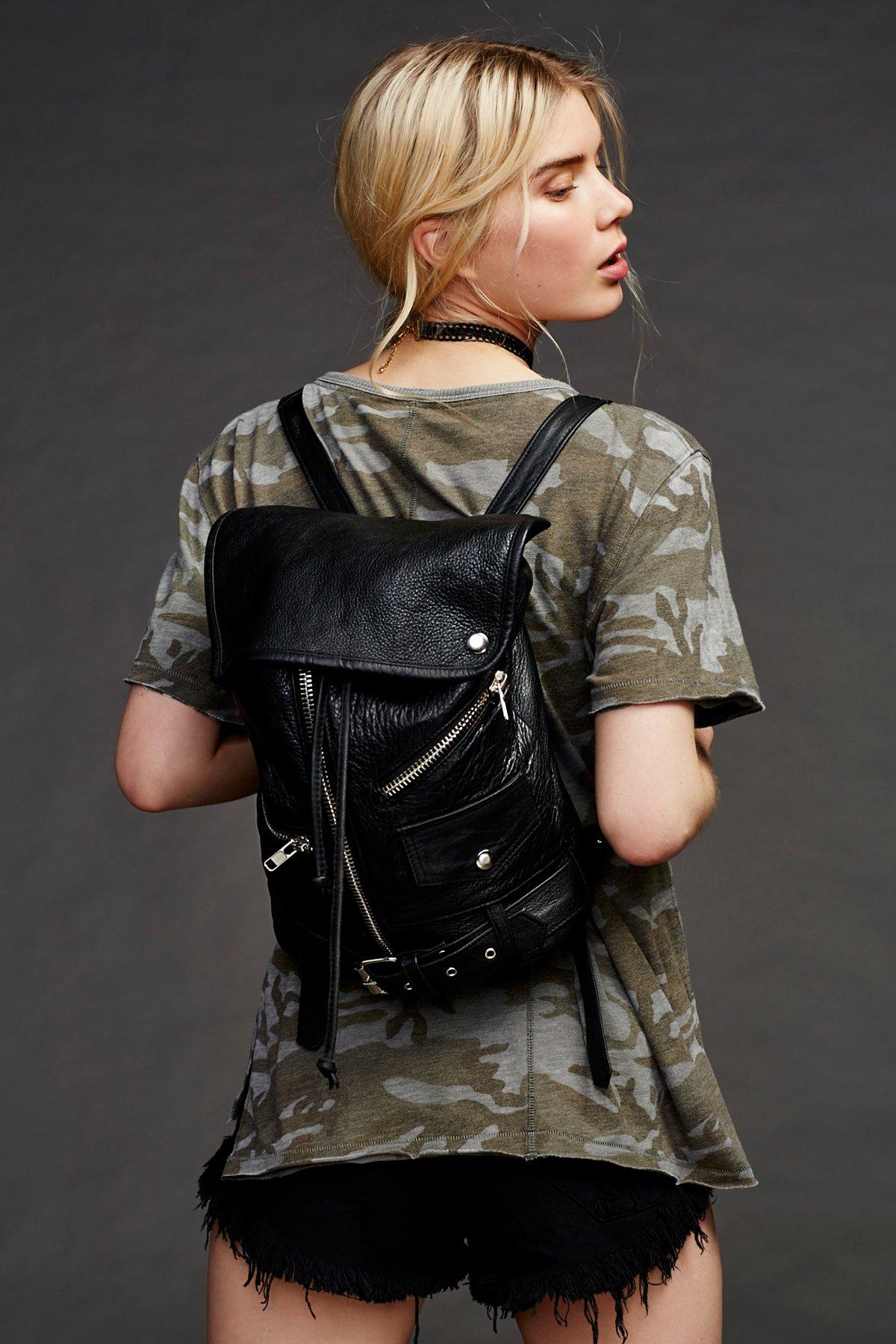 Edie Leather Backpack