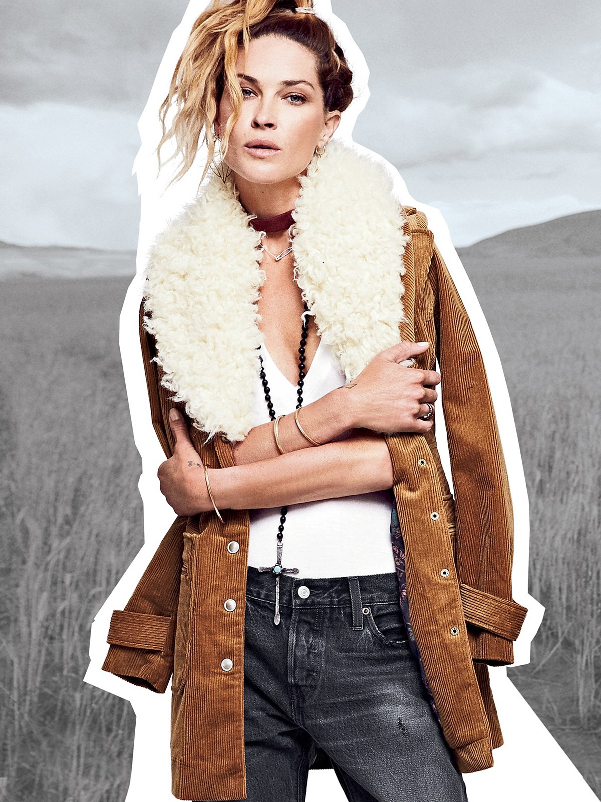Lady Lane Fur Collar Jacket
