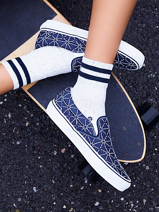 Product Image: Quilted Denim Classic Slip On Sneaker