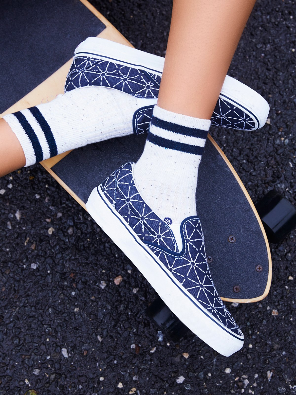 Quilted Denim Classic Slip On Sneaker