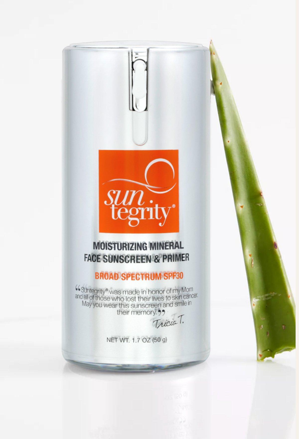 Natural Moisturizing Face Sunscreen & Primer