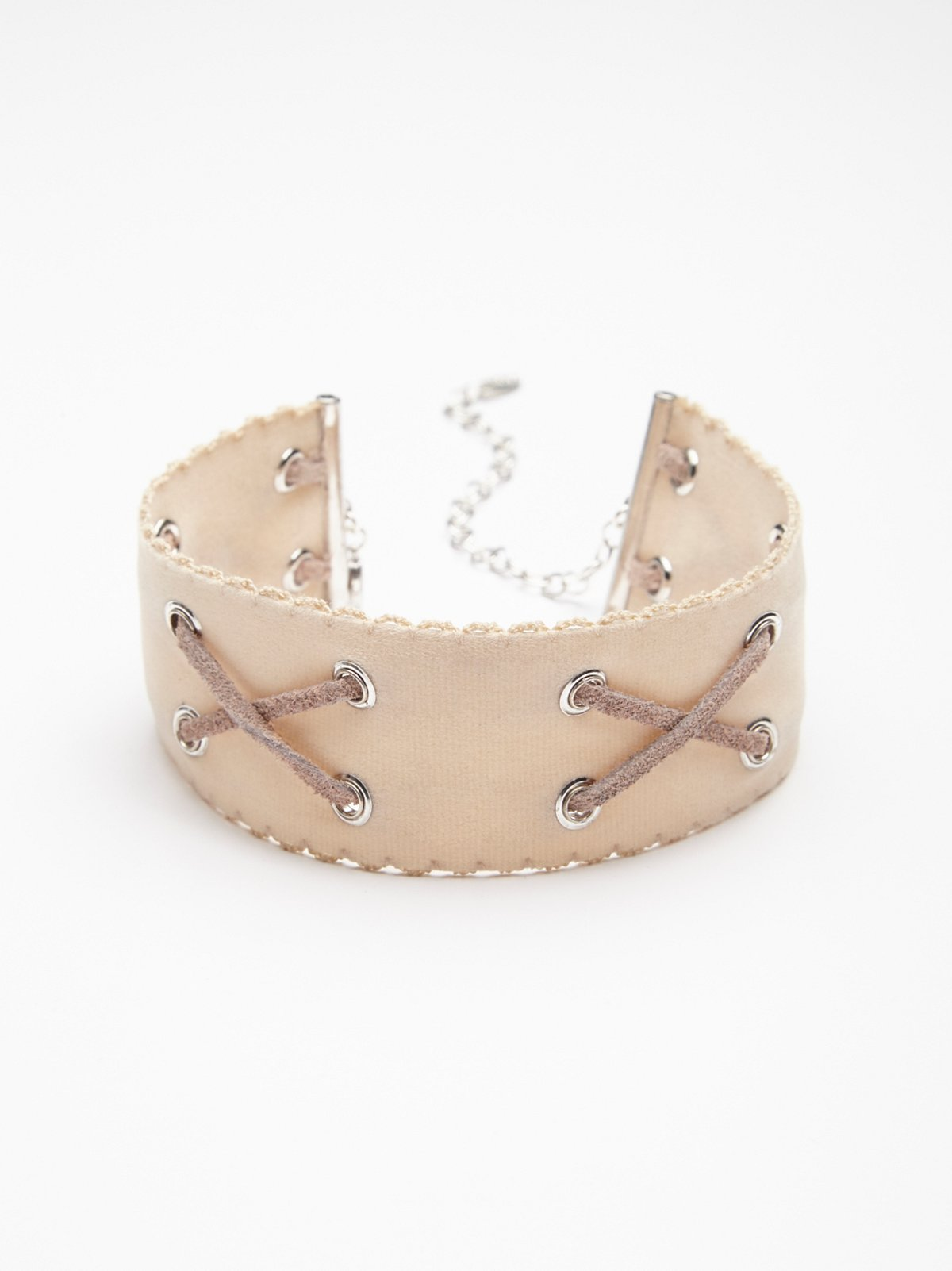 Double Crossed Suede Choker