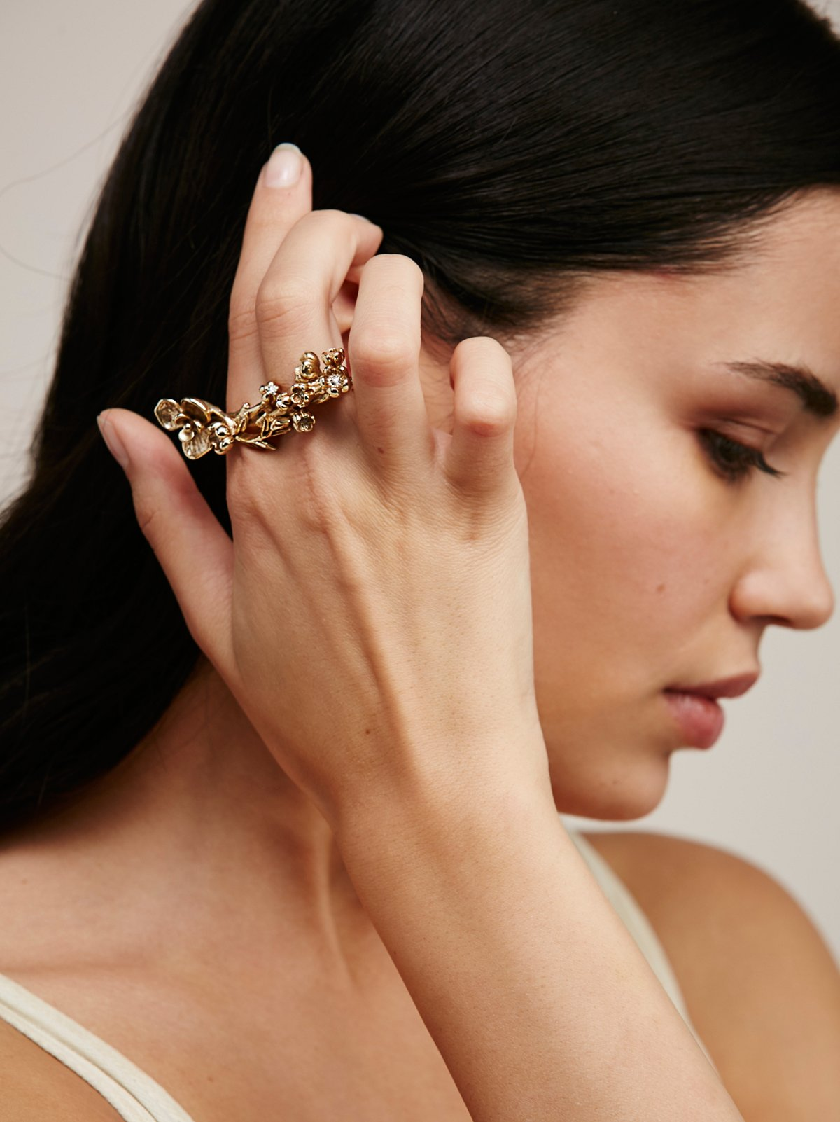 Wild Flower Double Ring