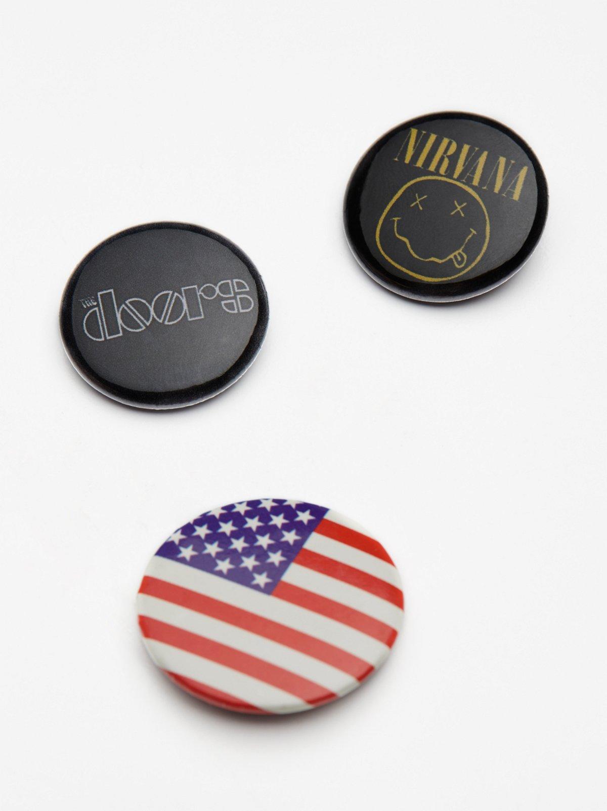 Vintage Band Pin Set