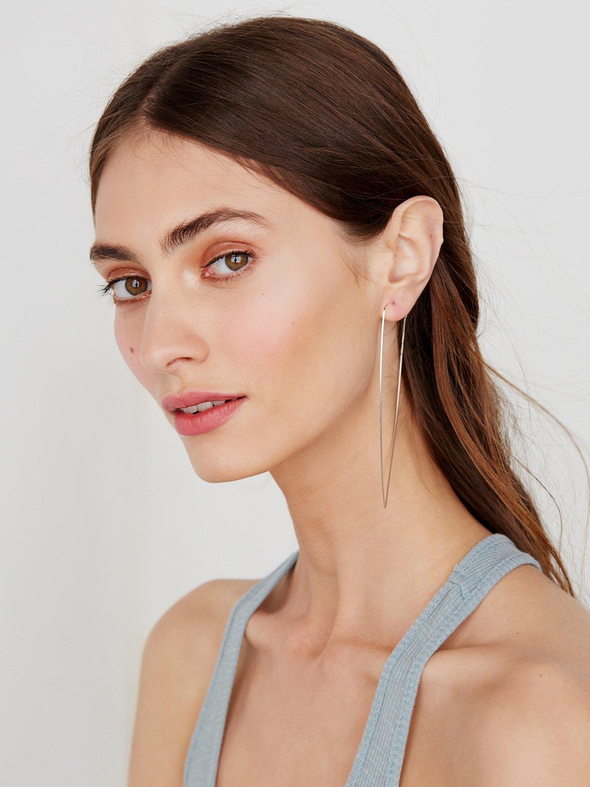 钻石圆圈耳环