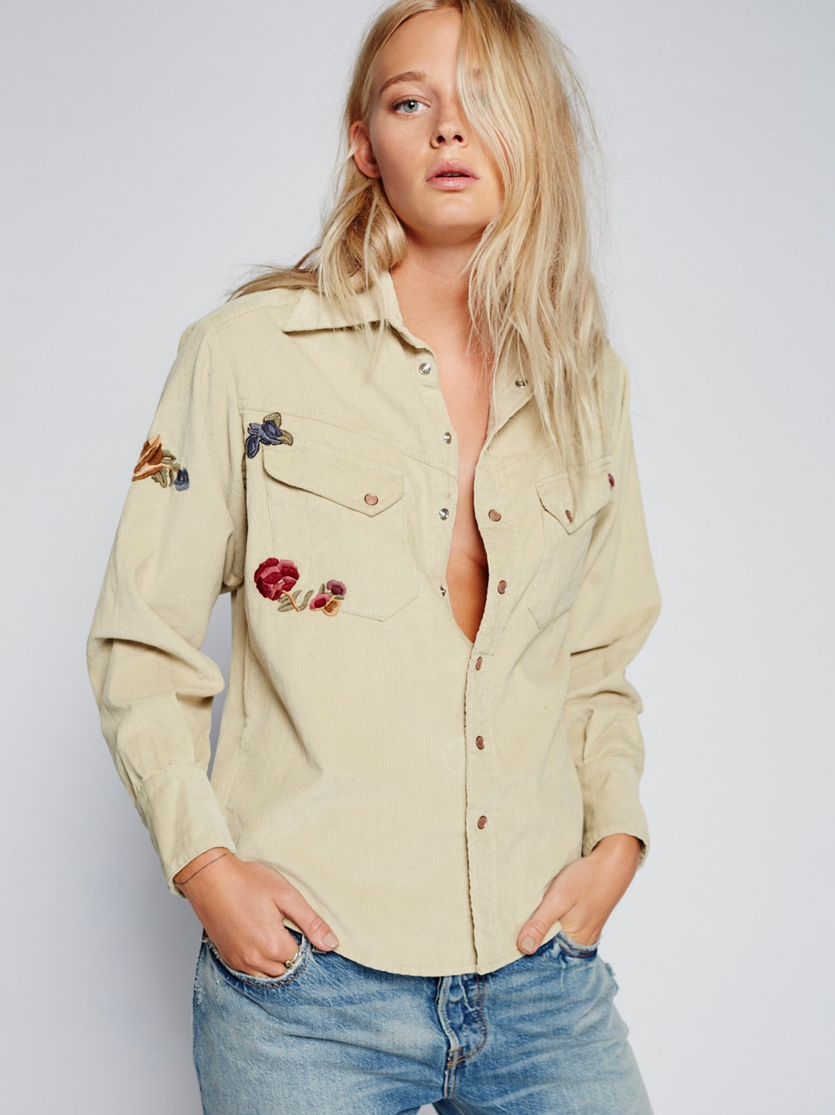 Harley Embroidered Corduroy Shirt