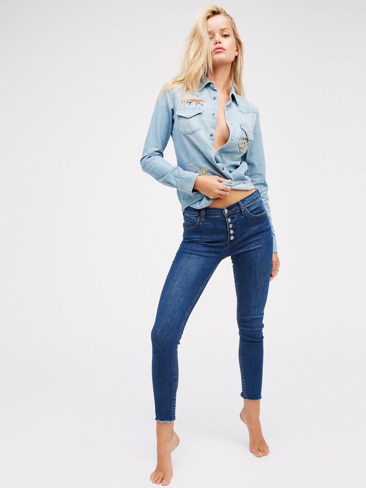 Reagan Button Front Jean