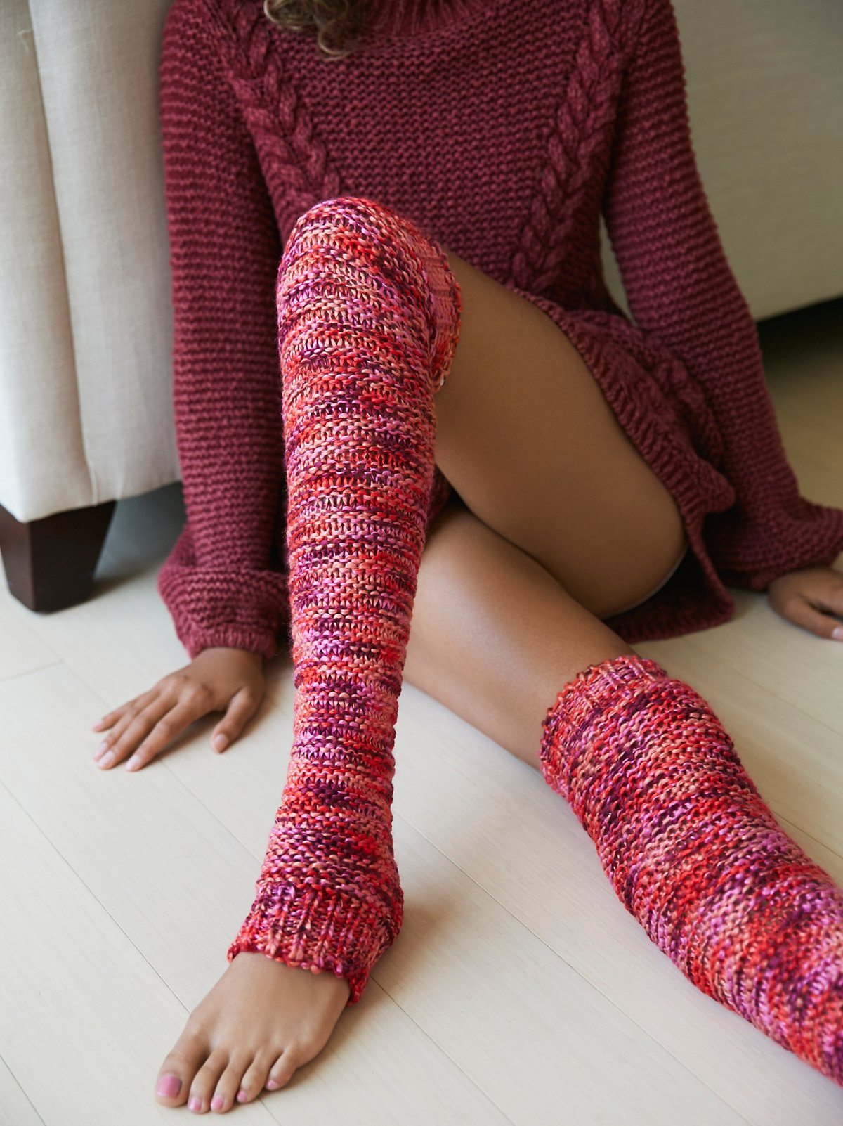 Mixed Tape Over The Knee Legwarmer