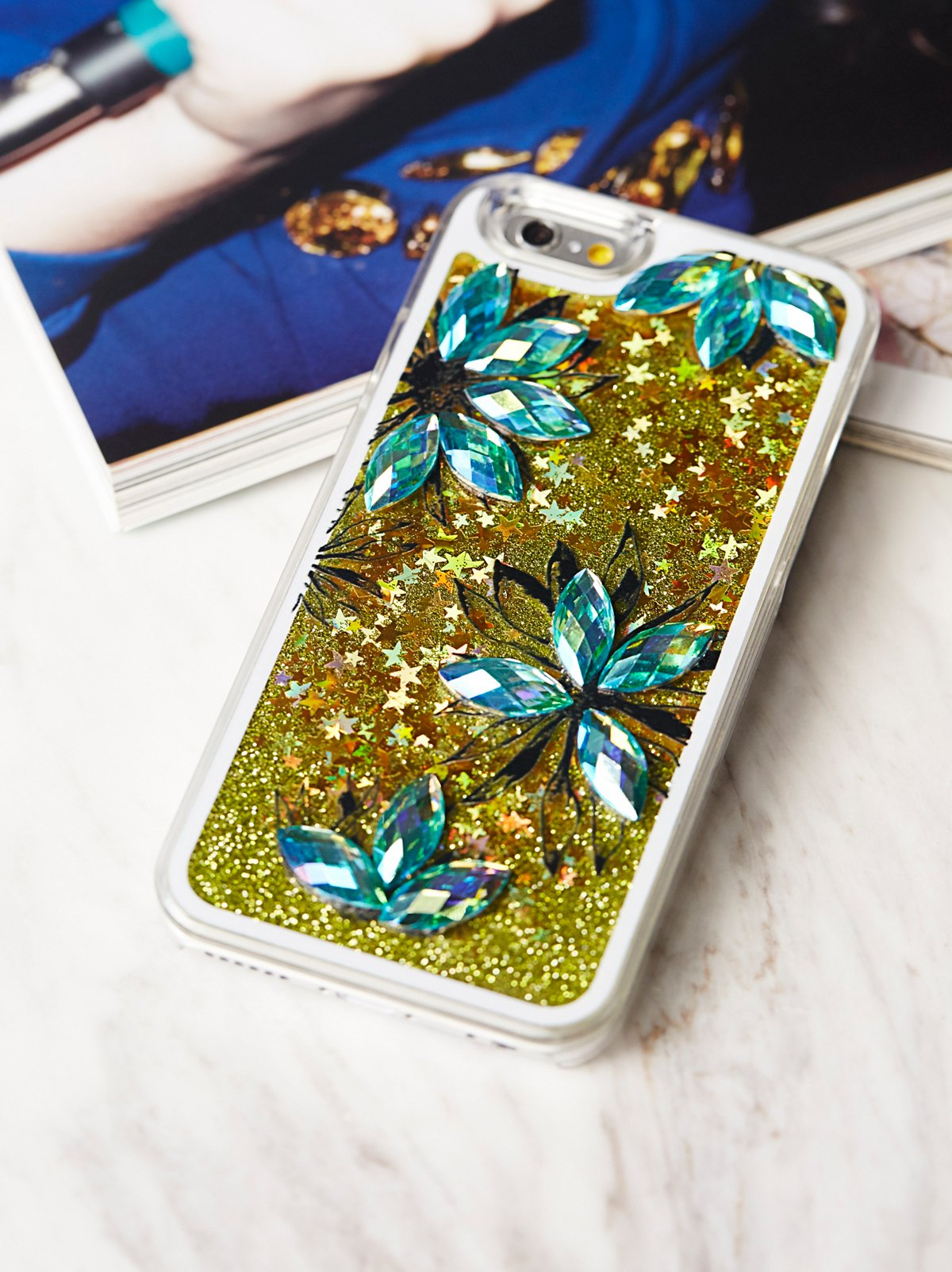 Interstellar Storm Liquid Glitter iPhone Case