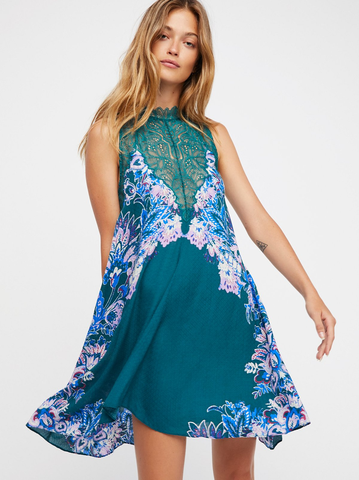 Marsha印花衬裙