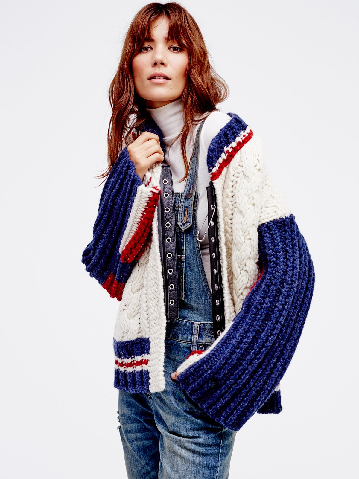 East Gate Cable Knit Bomber