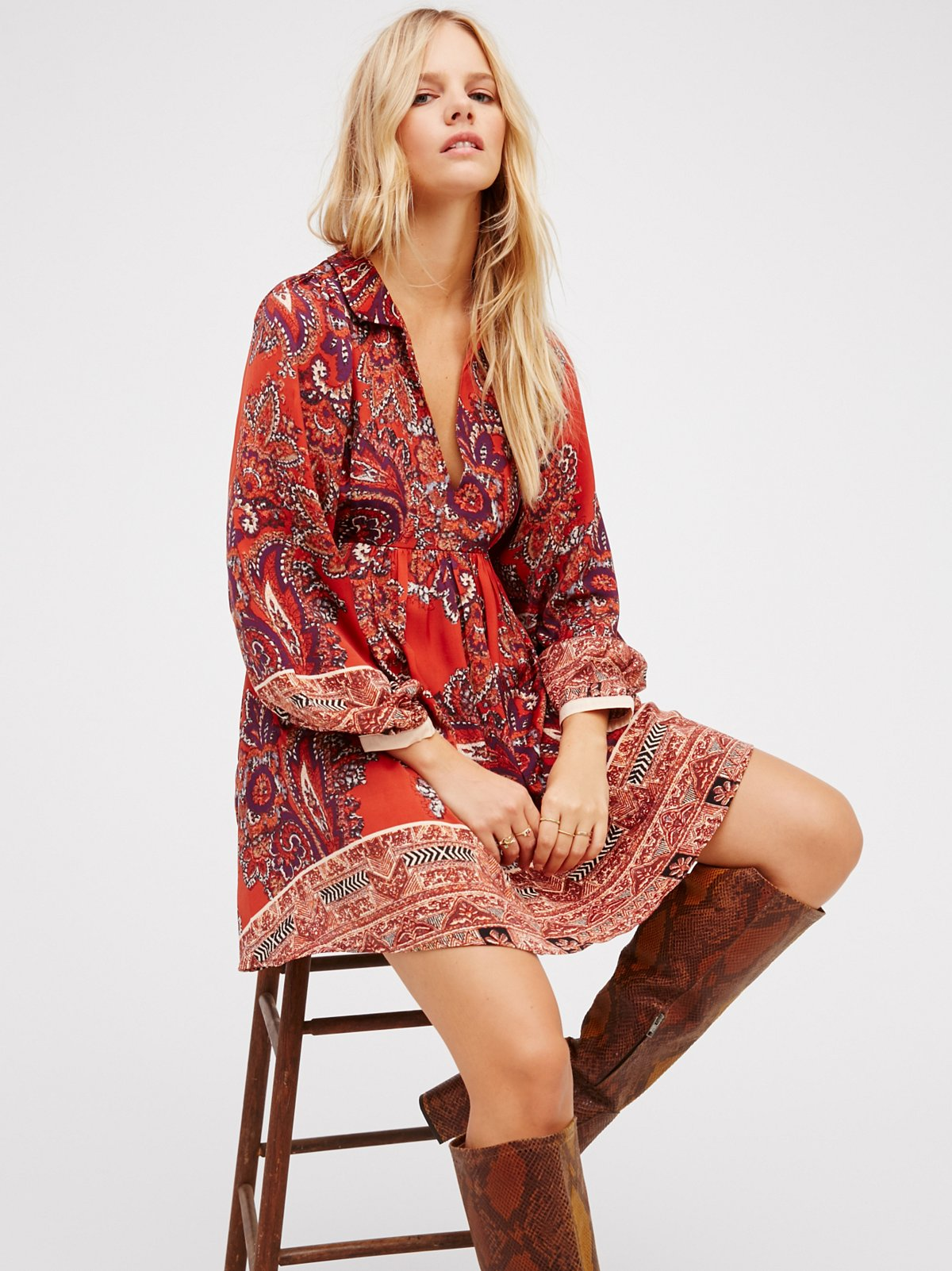 say you love me mini dress at free people clothing boutique