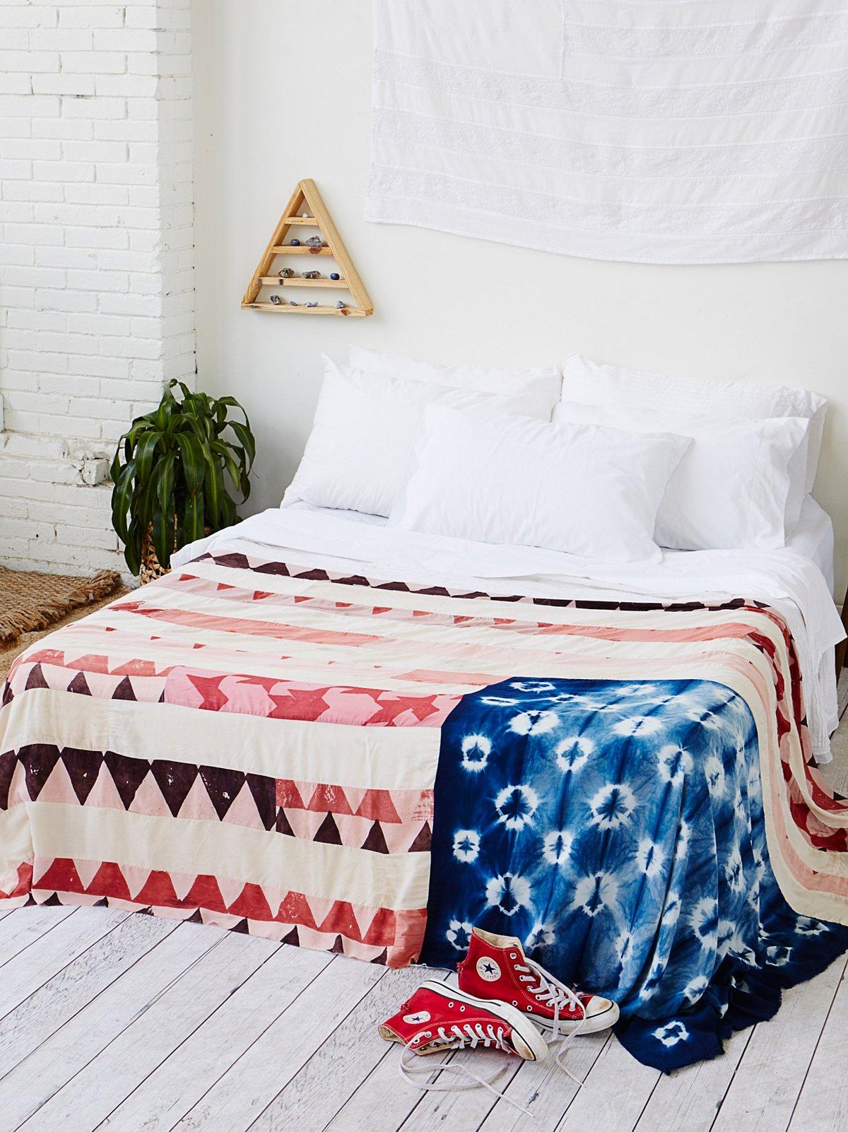 Shibori染色美国国旗