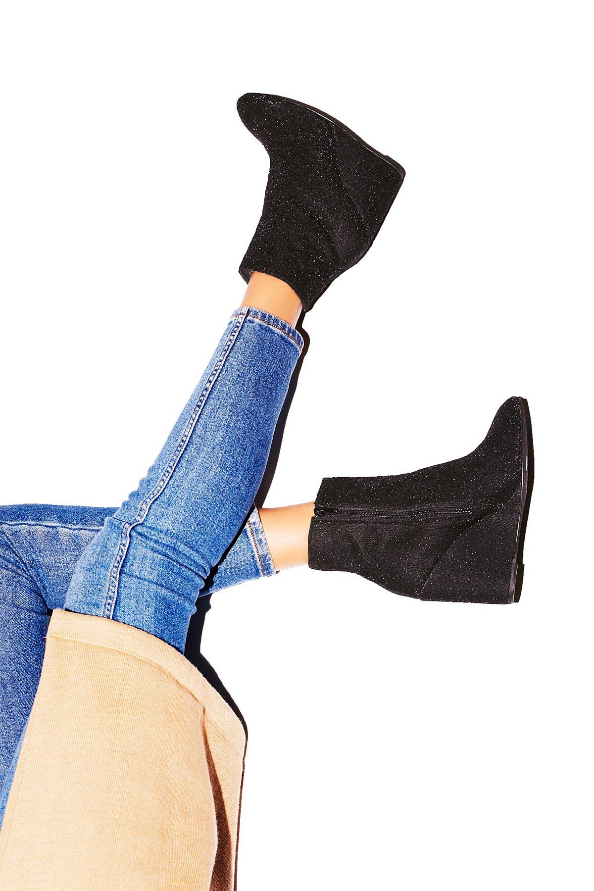 Instant坡跟靴