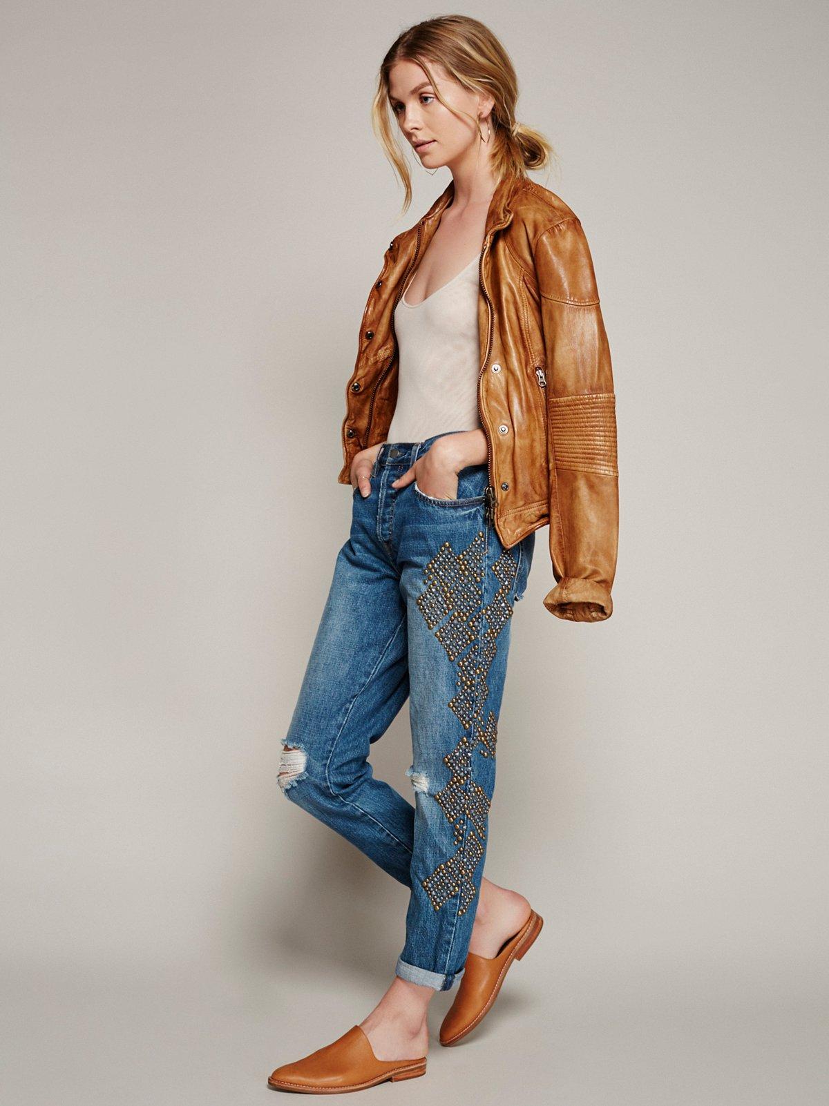 Abbie Studded Boyfriend Jeans