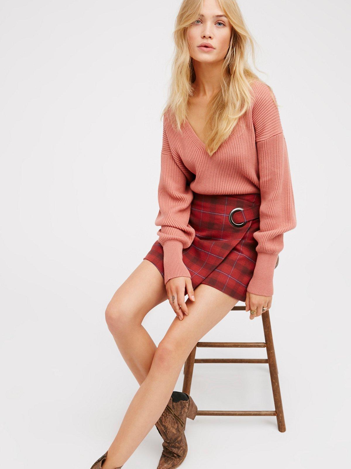 Tessa Plaid Mini Skirt