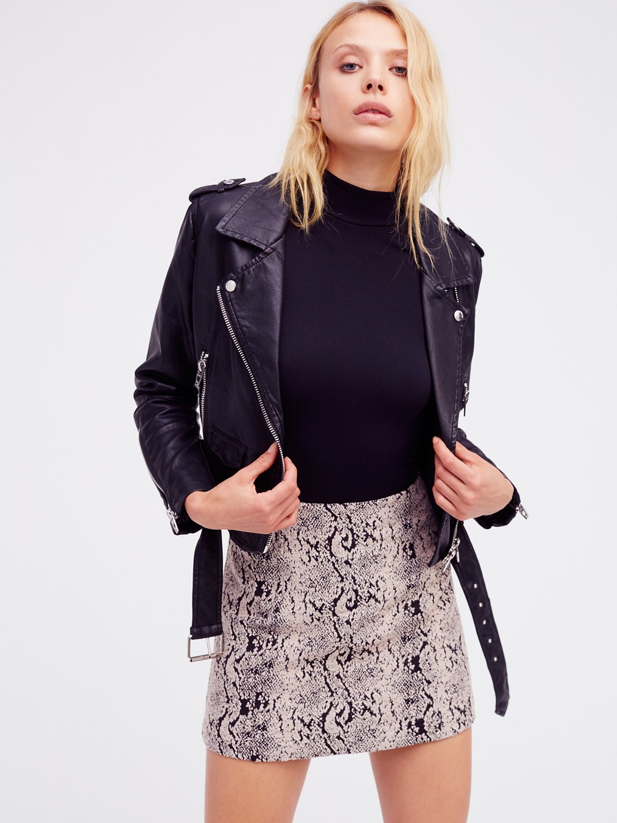 Snake Jacquard Mini Skirt