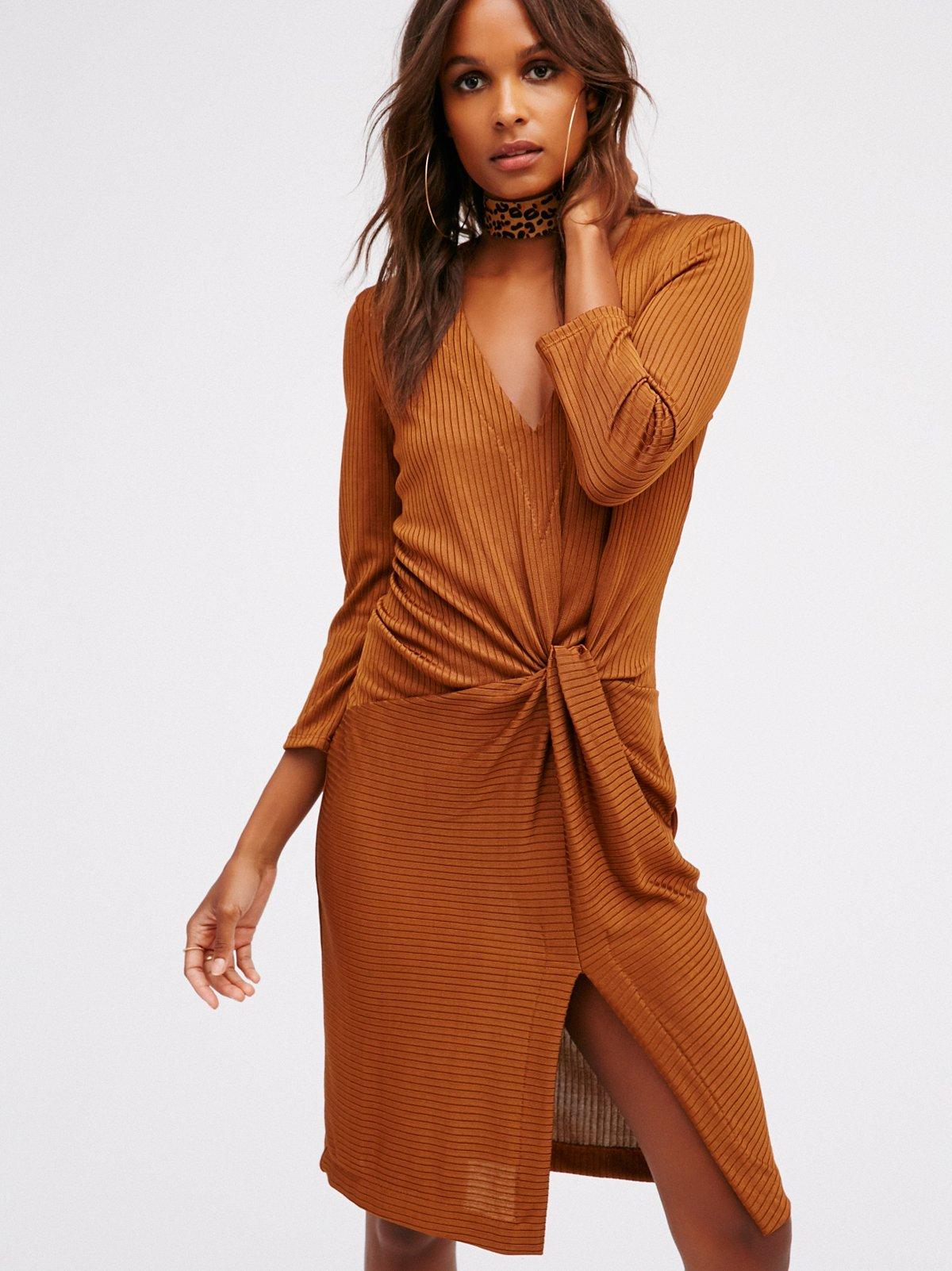 Irene Twist Knit Dress