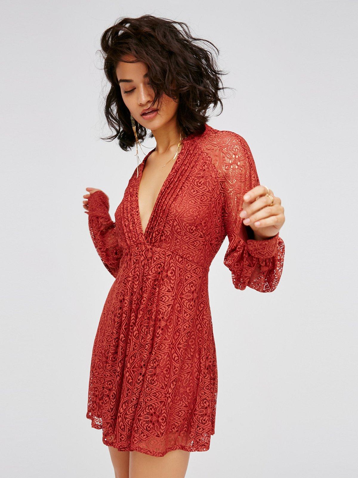 Uptown Lace Mini Dress