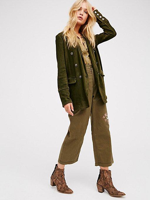 Product Image: 长款修身雪尼尔西装外套