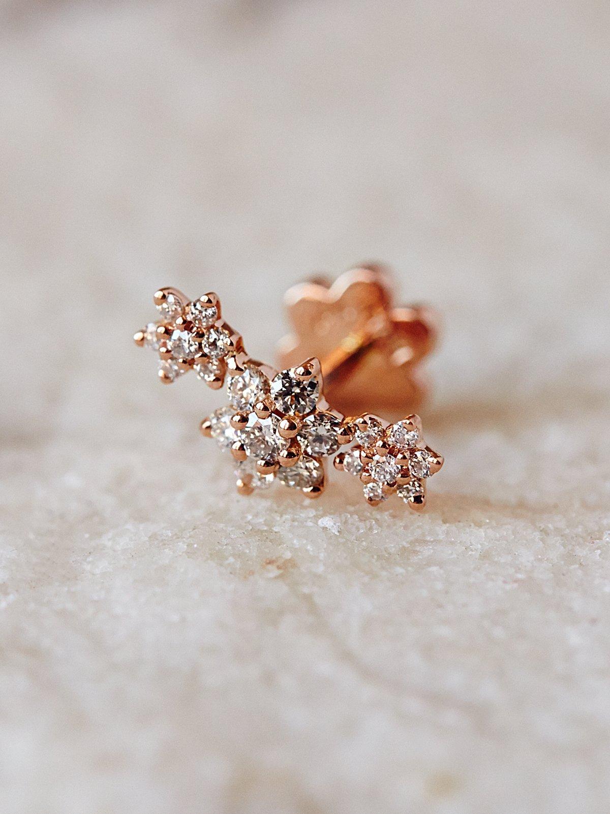 Garland钻石花朵耳环