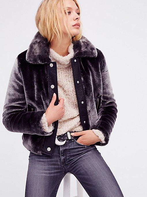 Product Image: Cropped Plush Fur Jacket