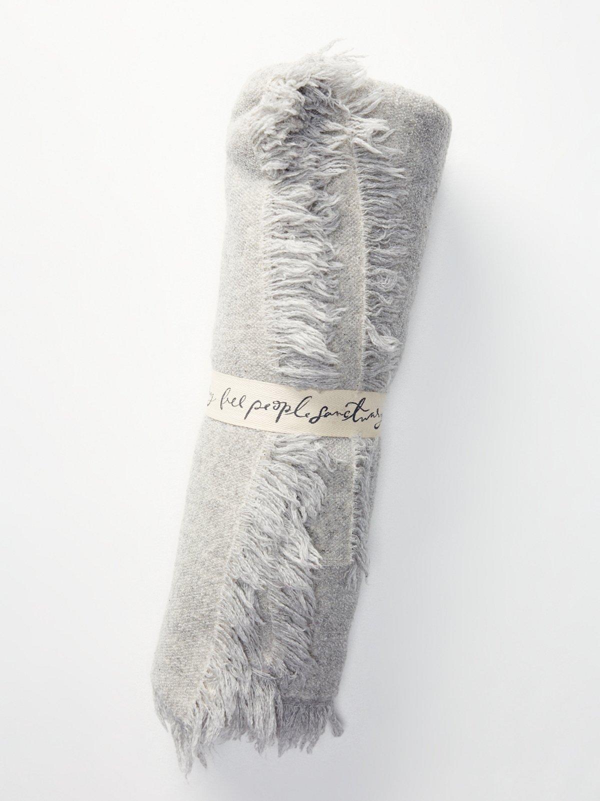 羊驼毛流苏毯