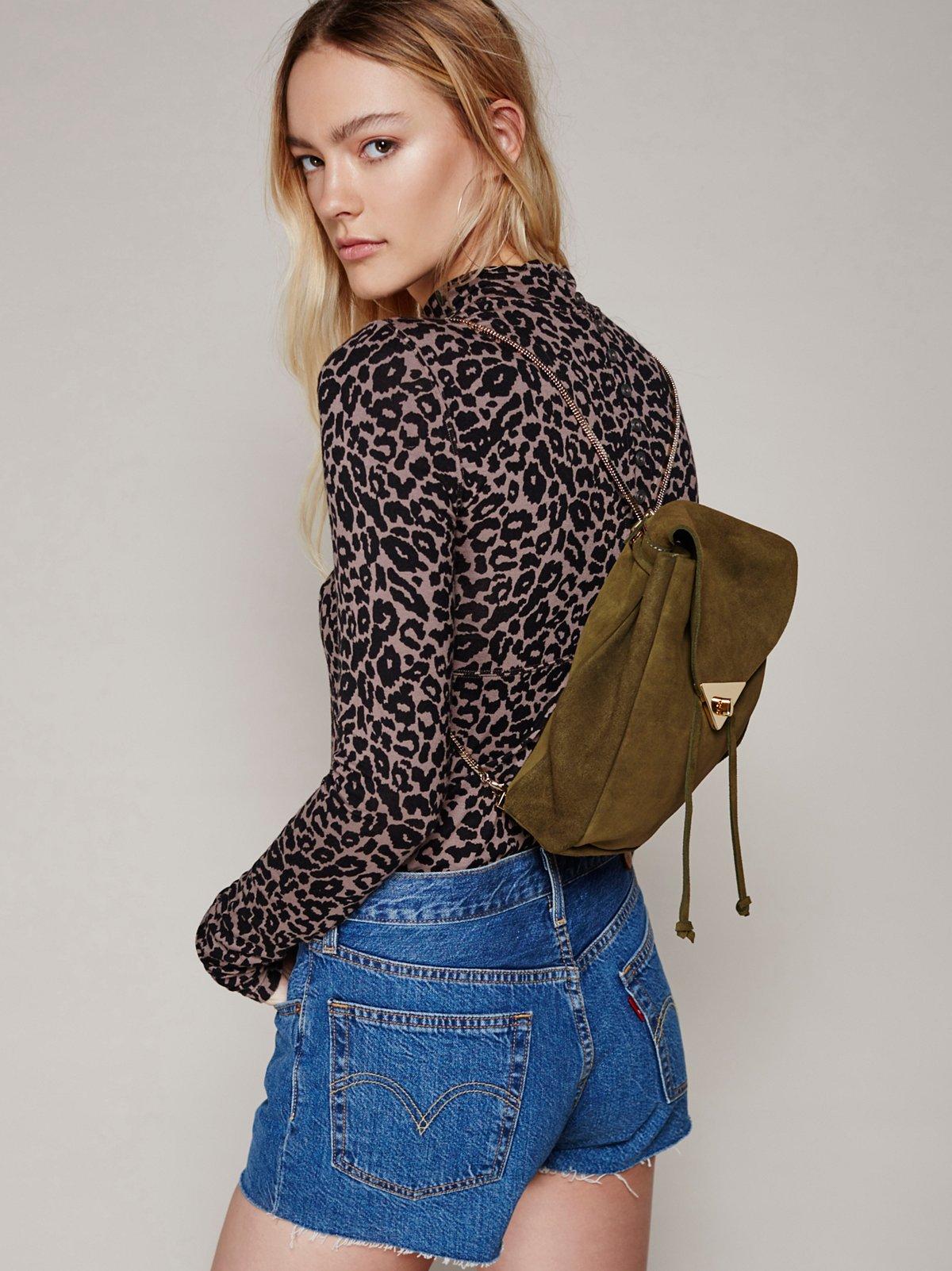 Jess麂皮背包