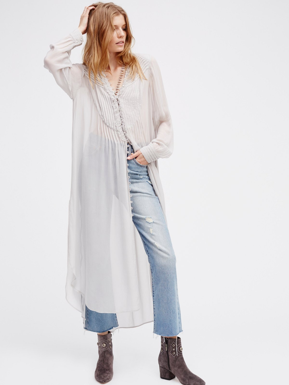 Gazing Skywards Maxi Top