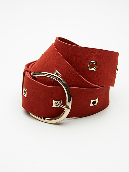Product Image: Square Grommet Suede Belt